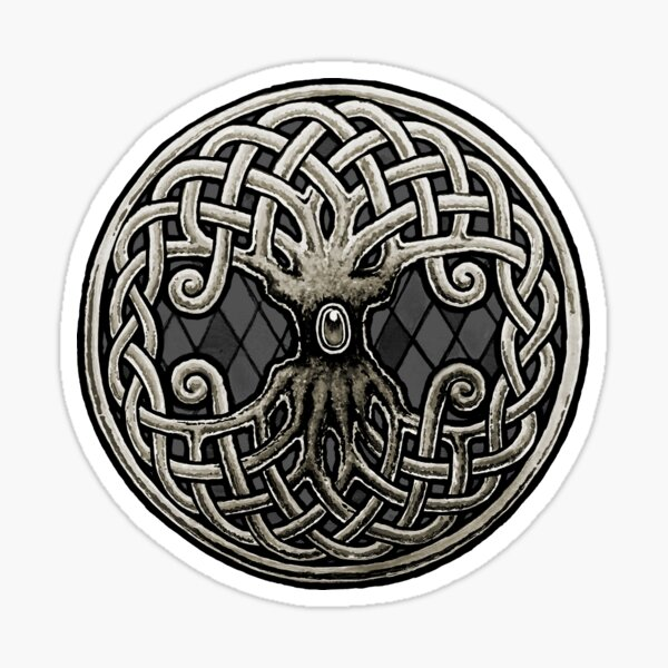 Yggdrasil Celtic Viking World Tree of Life Sticker