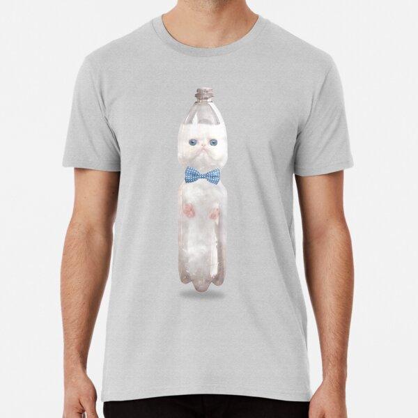 PET PET CAT, süße, weiße, blauäugige Katze im Lockdown 2020 Meme Premium T-Shirt