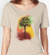 Grunge Palm Tree Women's Relaxed Fit T-Shirt