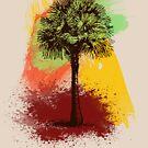 Grunge Palm Tree by Denis Marsili