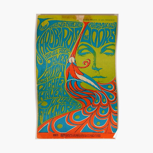 Painting Of A Woman And a peacock Auditorium Poster Poster