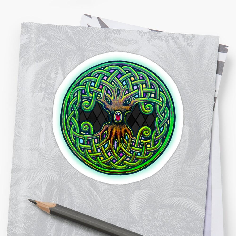 Yggdrasil Celtic Viking World Tree of Life color\