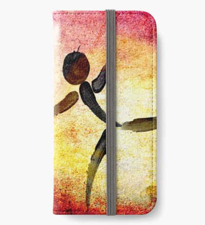 I Need YOUR Hug!!! Fingers Painting iPhone Wallet
