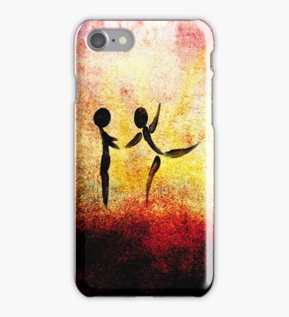 I Need YOUR Hug!!! Fingers Painting iPhone Case/Skin