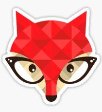 Hipster fox Sticker