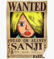 Sanji Wanted Poster Poster