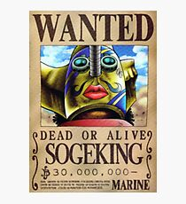 Sniper King/ SogeKing Wanted Poster Photographic Print