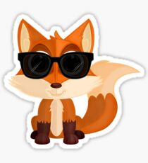 Cool Fox Sticker