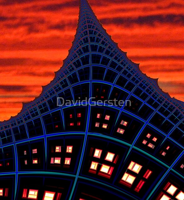 TOWER OF LIGHT FRACTAL by DavidGersten