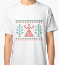 Traditional ornament woman Classic T-Shirt