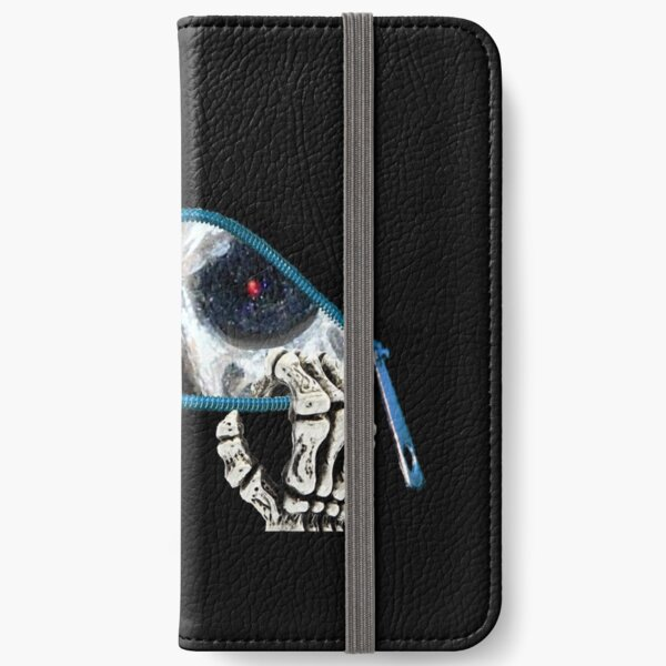 The eyes of a living skull iPhone Wallet