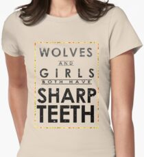 Wolves and Girls Women's Fitted T-Shirt