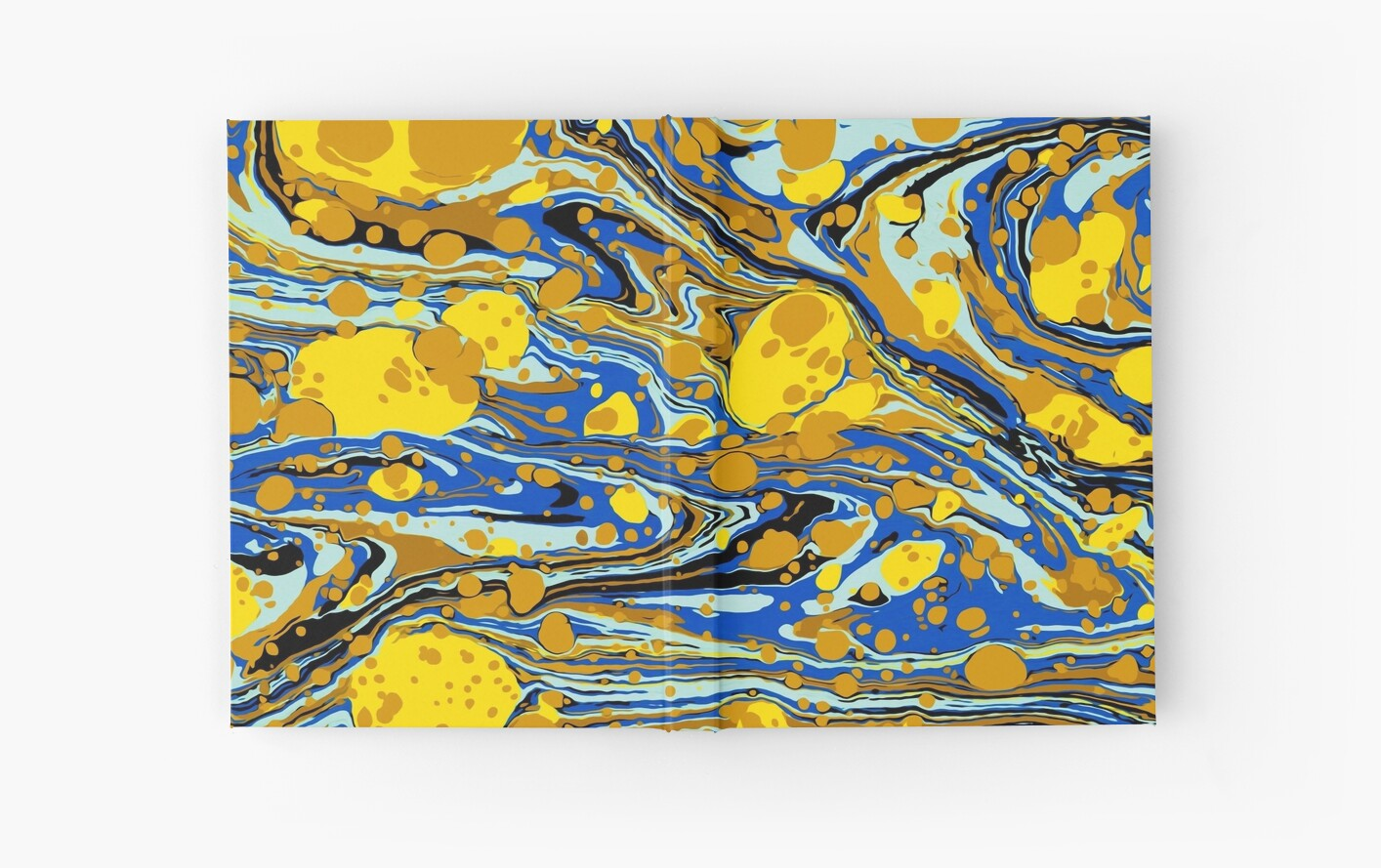 Blue Yellow Urban Hip Hop Splash Psychedelic Blob Abstract Pattern ...