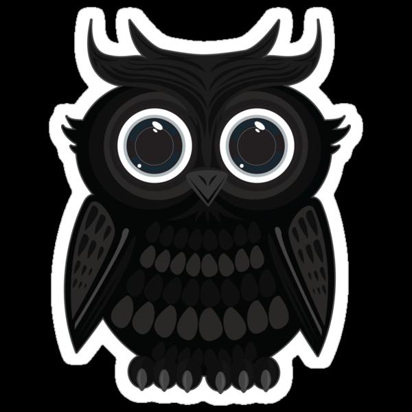 Black Owl - White by Adamzworld