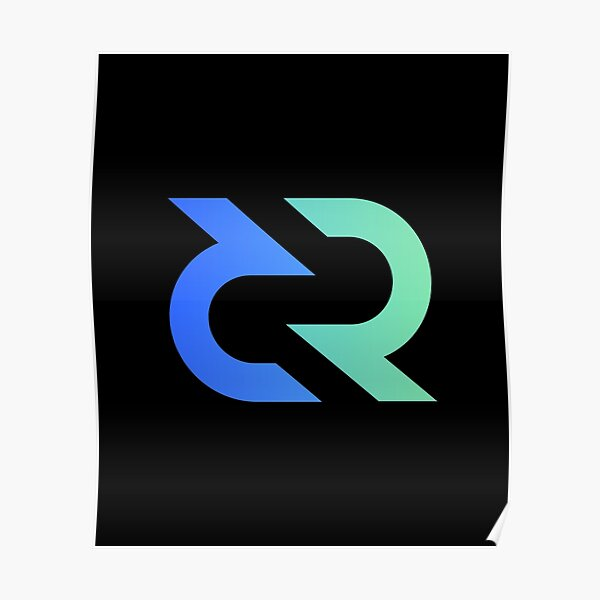 Decred DCR, cryptocurrency Decred Poster