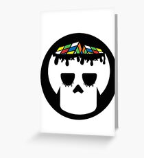 Rubix Skull Greeting Card