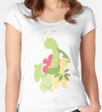 Chikorita Evolution Women's Fitted Scoop T-Shirt
