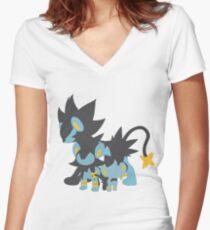 Shinx Evolution Women's Fitted V-Neck T-Shirt