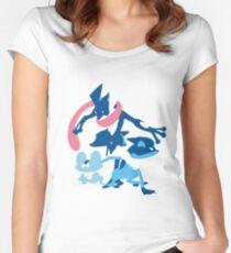 Froakie Evolution Women's Fitted Scoop T-Shirt