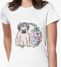 I don't give a pug! Tailliertes T-Shirt für Frauen