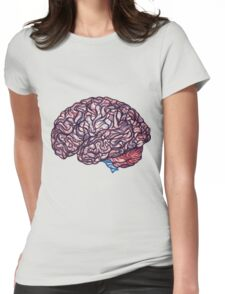Brain Storming - Pink Womens Fitted T-Shirt
