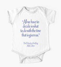 Tolkien, All we have to decide, The Fellowship of the Ring Kids Clothes