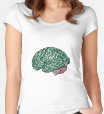 Brain Storming and tangled thoughts - Green Women's Fitted Scoop T-Shirt