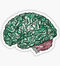 Brain Storming and tangled thoughts - Green Sticker