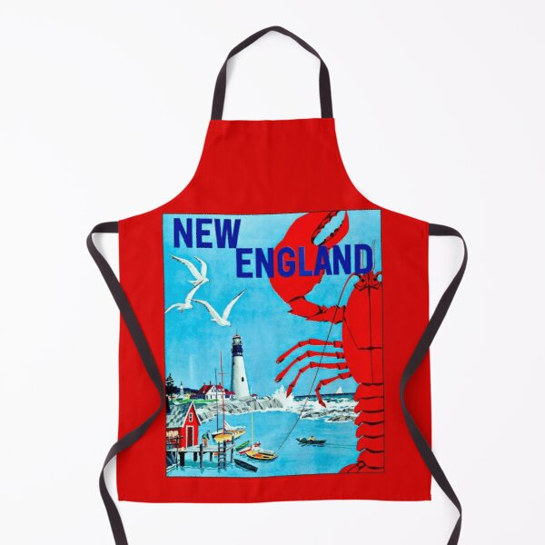 LIGHTHOUSE : Vintage New England Advertising Print Apron