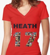 17 Heath Women's Fitted V-Neck T-Shirt