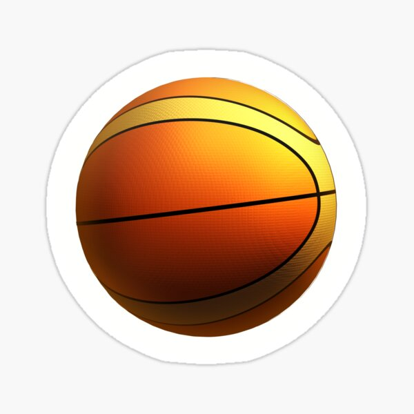 Basketball. Sports, 3D illustration concept Sticker