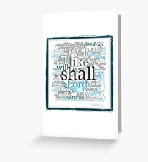 Isaiah 53 Religious Christian Typography Art Greeting Card