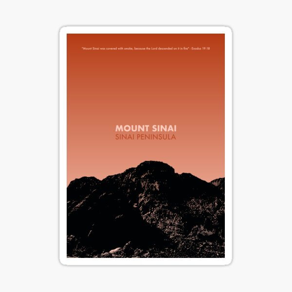 Mount Sinai Silhouette Art - Egypt Gift Sticker