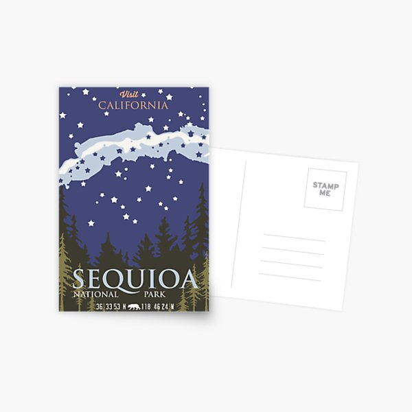 Sequoia National Park. Postcard