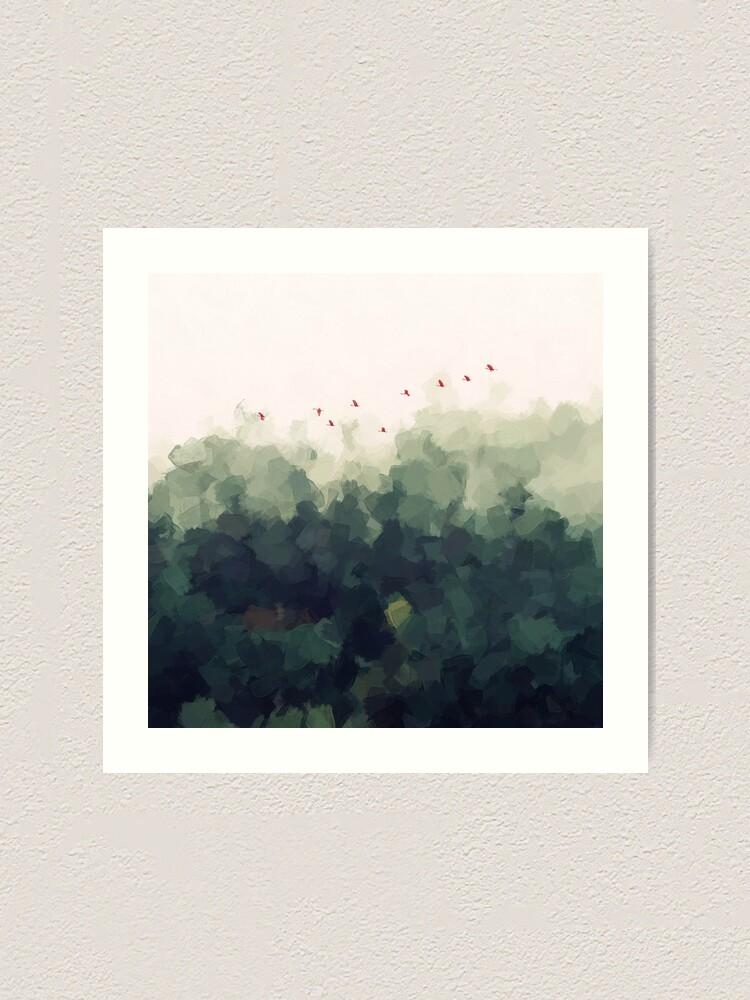 Alternate view of green forest Art Print