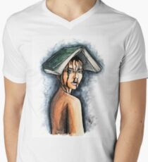 Immersed on a book Mens V-Neck T-Shirt