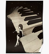 Piano Girl Posters
