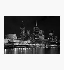 0353 Melbourne by Night Photographic Print