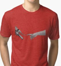 Creation of Adam Motorcycle Version Tri-blend T-Shirt