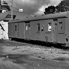 Old train carriage : black and white by ashroc