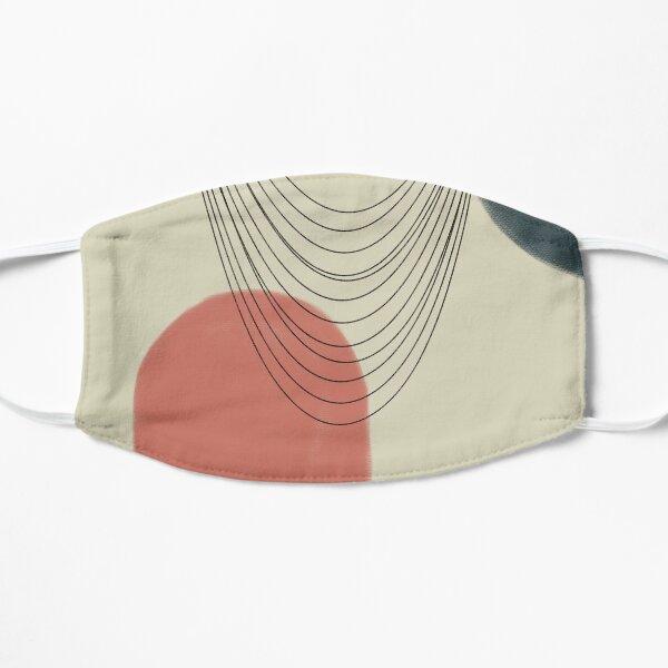 Abstract soft boho pastels Flat Mask