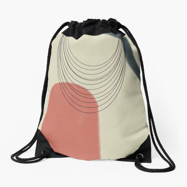 Abstract soft boho pastels Drawstring Bag