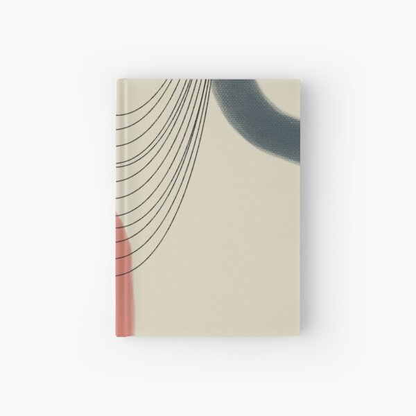 Abstract soft boho pastels Hardcover Journal