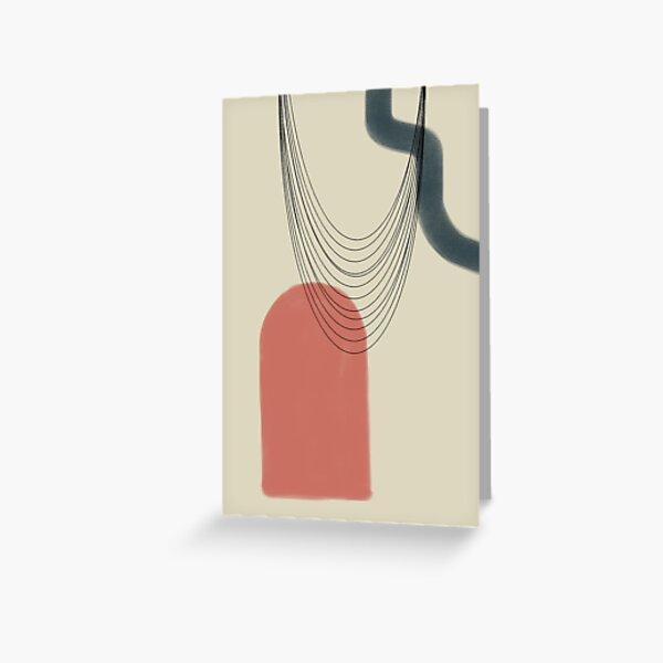 Abstract soft boho pastels Greeting Card