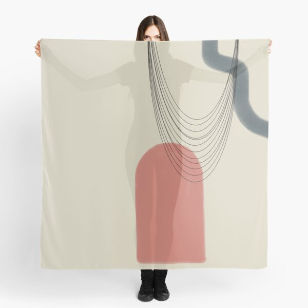 Abstract soft boho pastels Scarf