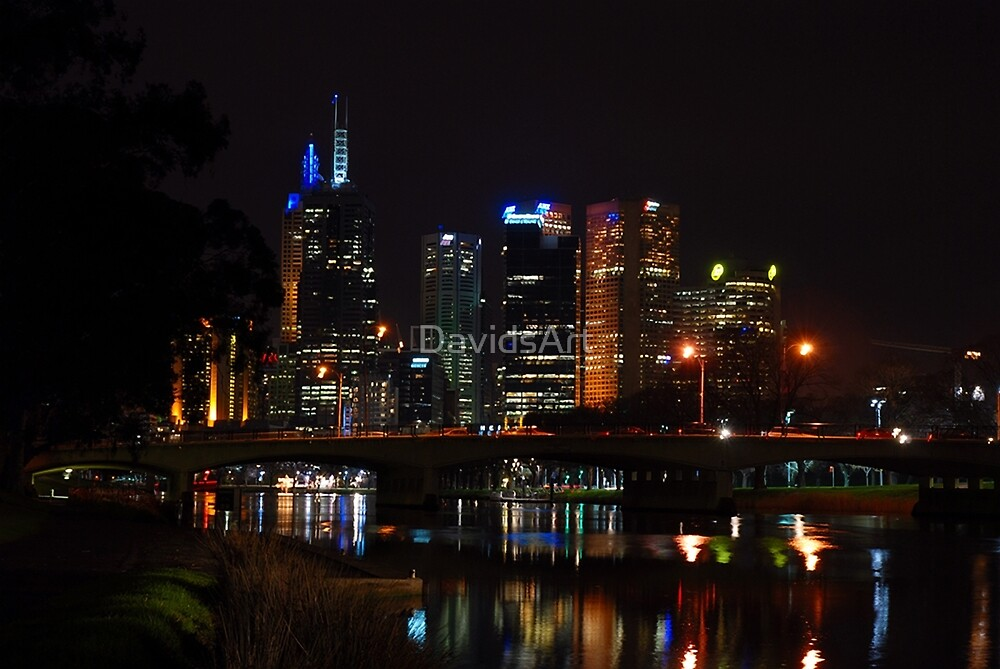 1137 Melbourne at night by DavidsArt
