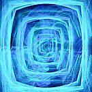 Blue Vortex - Apophysis 7 by judygal