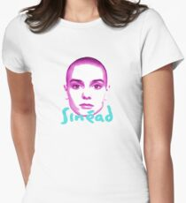 sinead o'connor - face Womens Fitted T-Shirt