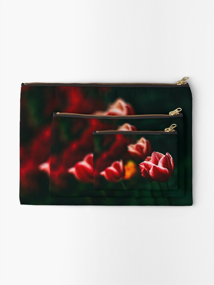 Alternate view of Red Atmosphere Zipper Pouch