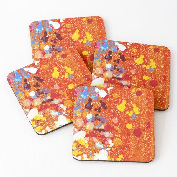 Abstract orange background  Coasters (Set of 4)